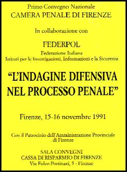 Federpol defensive investigations in the criminal trial